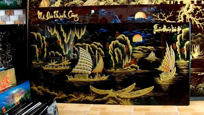 Tranh tặng tân gia - Tranh thuận buồm xuôi gió NDV01 - Malanaz shopping