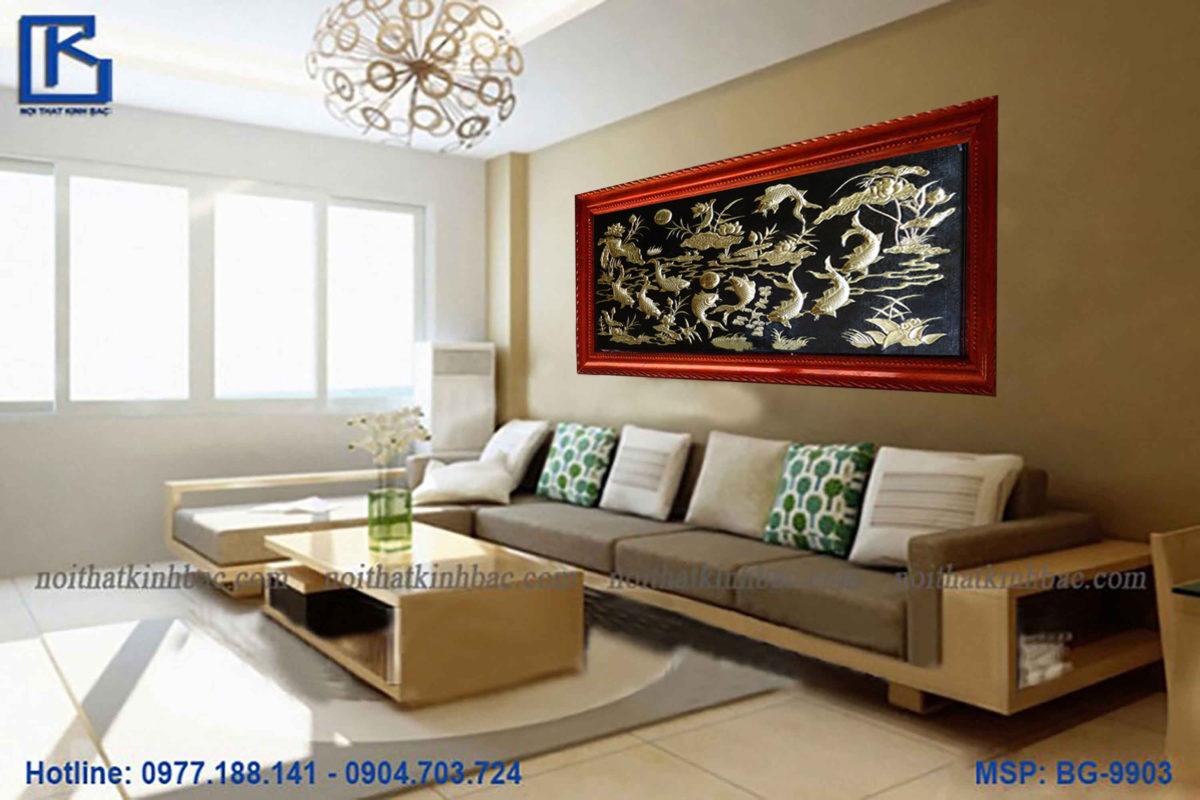 Tranh đồng cao cấp - Tranh đồng quần ngư hội tụ - Malanaz.com cung cấp giá gốc