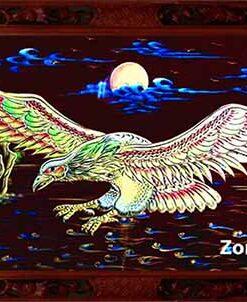 Tranh chim đại bàng khung gỗ A