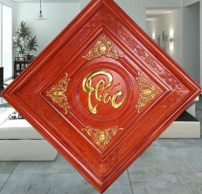 Tranh gỗ tphcm - Tranh gỗ phúc lộc thọ rát vàng - PLT01 - Malanaz.com - sale off