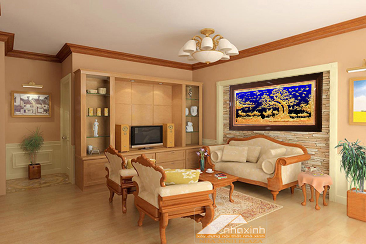 Tranh bằng đồng - Tranh hạc TH02 - A Malanaz.com