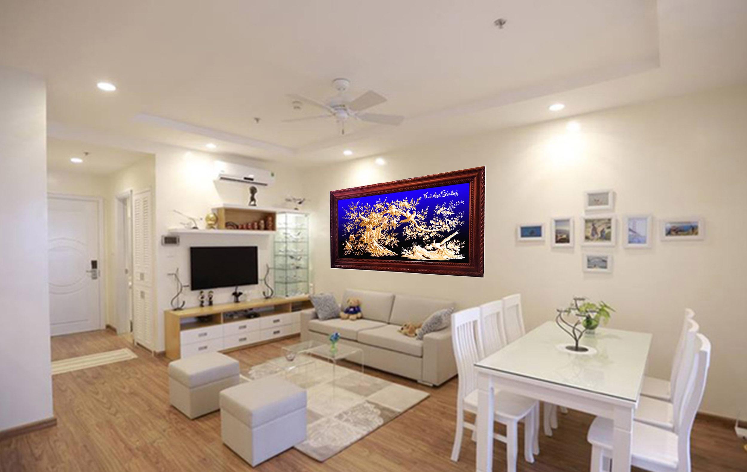 Tranh đồng treo phòng khách - Vinh hoa phú quý - VH03 - Malanaz.com