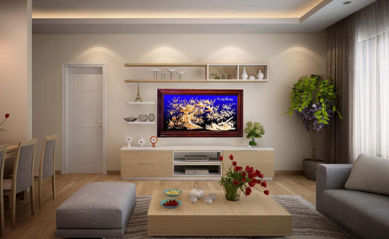 Tranh đồng treo phòng khách - Vinh hoa phú quý - VH03 - Malanaz.com sale