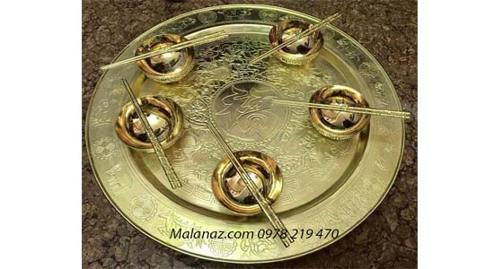 Đồ đồng đại bái - Mâm cơm đồng MC01A