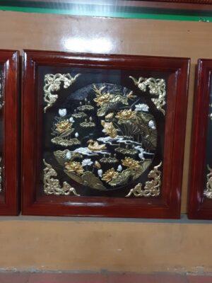Tranh đồng cao cấp - Tranh đồng bộ ba 80 x 80 cm - B01A - Malanaz Shopping Sale off 30%