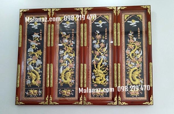 tranh đồng tứ quý - tranh đồng cao cấp - Malanaz Shopping