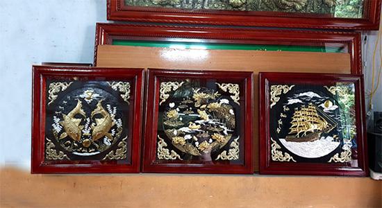 Tranh đồng cao cấp - Tranh đồng bộ ba 80 x 80 cm - B01A