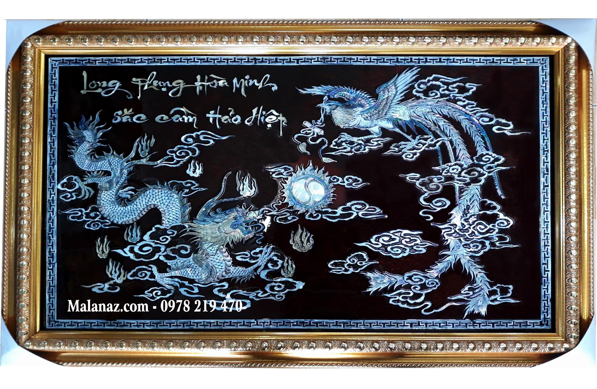 Tranh sơn mài cao cấp - tranh tặng đám cưới - DC01