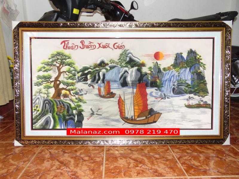 Tranh Thêu tay cao cấp - Tranh thuận buồm xuôi gió TTB07
