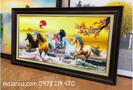 Tranh sơn dầu cao cấp - tranh mã đáo thành công - Malanaz Shopping - SMD03