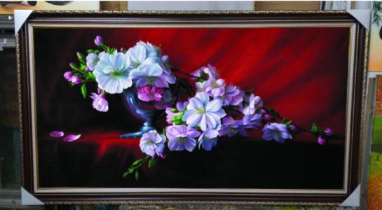 Tranh sơn dầu treo tường - Tranh hoa lan - SHL01A