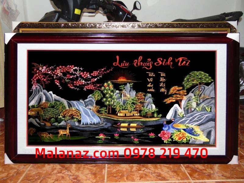 Tranh tặng đám cưới - Tranh thêu tay Lưu Thủy Sinh Tồn - TLT02