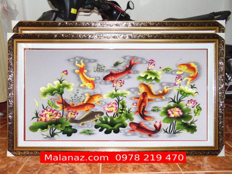Tranh thêu tay Phong Thủy - Tranh thêu TQN05A