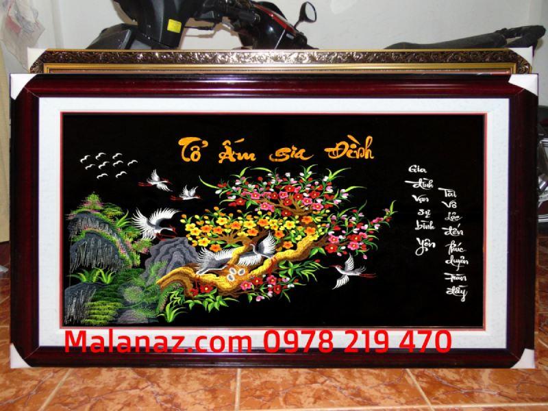 Tranh thêu tay cao cấp - Tổ ấm gia đình - TGD01A