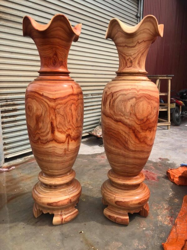 Lục bình gỗ cao cấp gỗ hương - Cao 1,6m x 0.47m - BL16