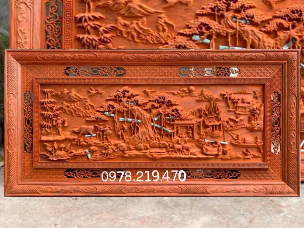 Mua tranh gỗ ở đâu - Tranh gỗ đồng quê - GDQ03 Malanaz Shopping