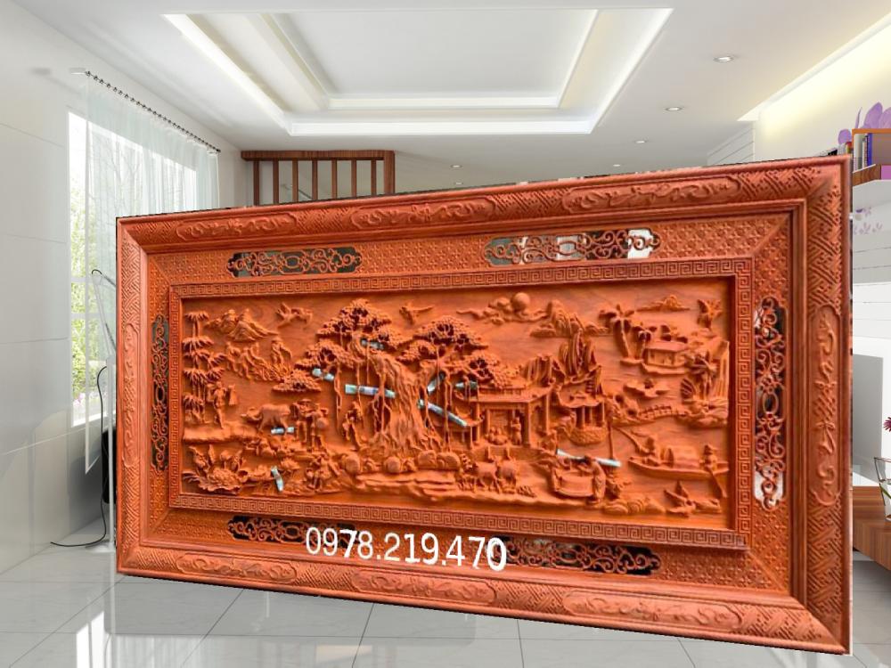 Mua tranh gỗ ở đâu - Tranh gỗ đồng quê - GDQ03 Malanaz Shopping Giao hàng toàn quốc - Giá tốt nhất
