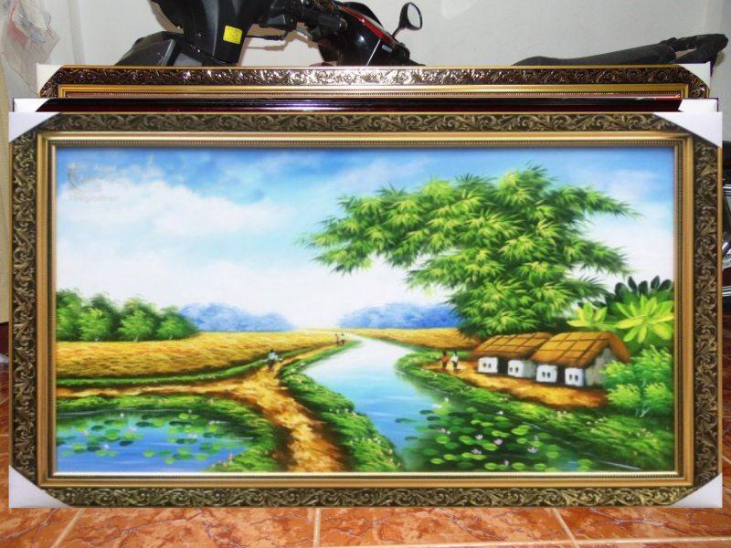 TRanh Sơn Dầu đồng quê - SDQ06