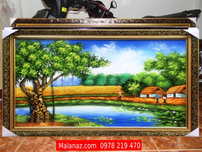 TRanh Sơn Dầu đồng quê - SDQ11A