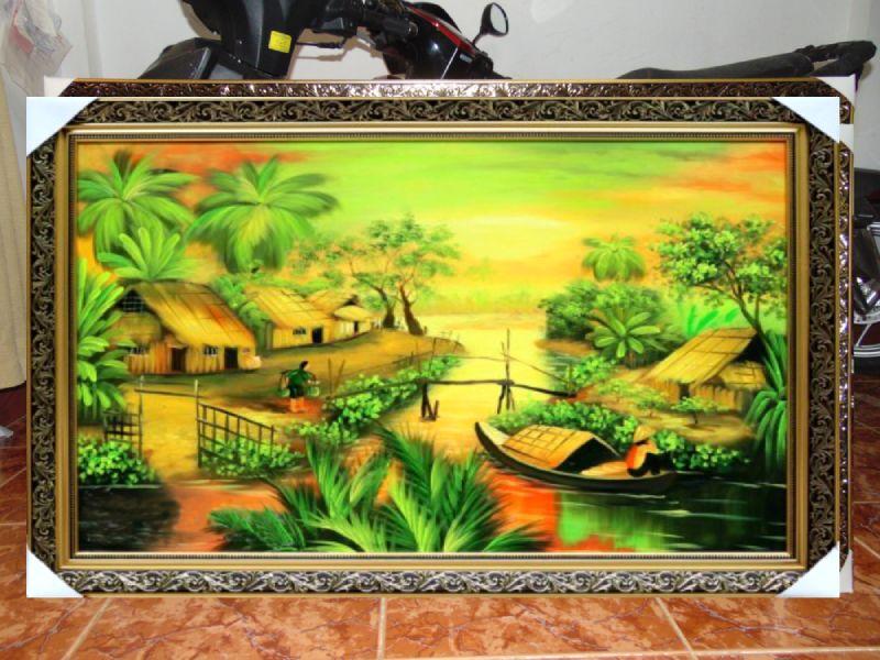 TRanh Sơn Dầu đồng quê - SDQ15A