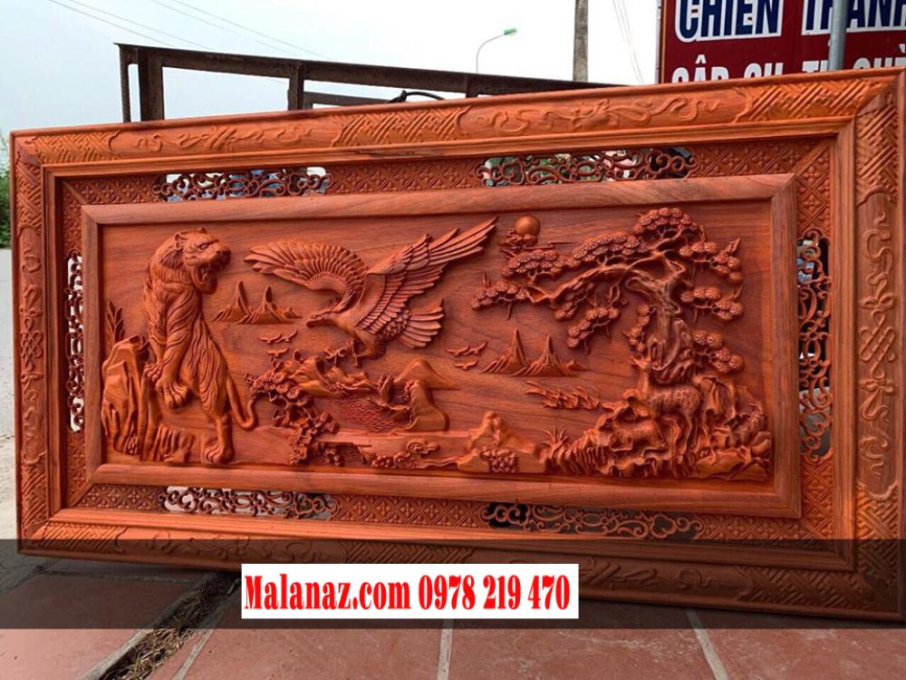 Tranh gỗ cao Hùng Tương Ngộ - cao 127 ngang 67cm dầy 45mm hương nam phi - Malanaz Shopping Giá tốt nhất