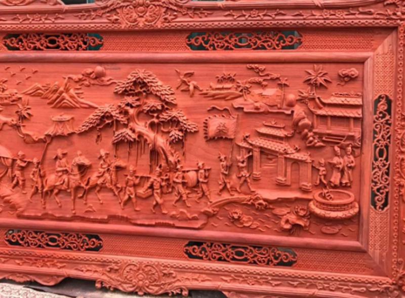 Tranh gỗ mỹ nghệ cao cấp - Tranh vinh quy bái tổ - GVQ04 - MMalanaz Shopping