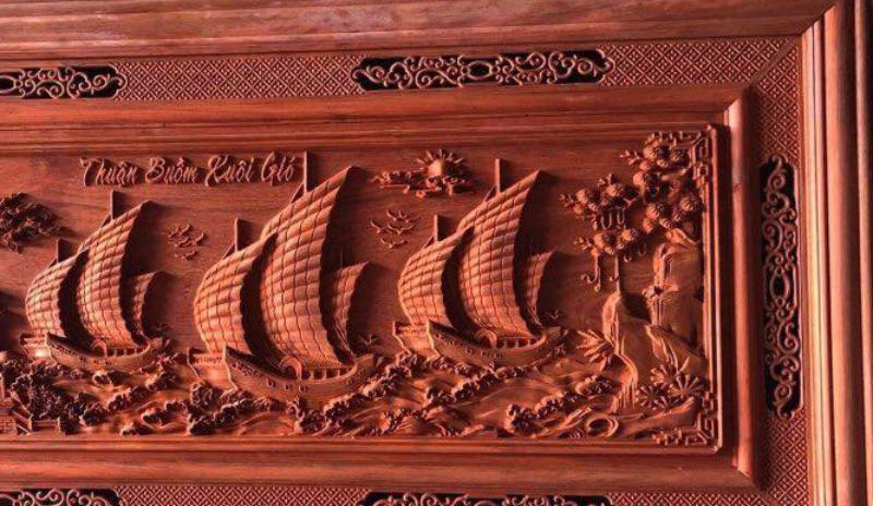 Tranh gỗ treo phòng khách - Tranh gỗ thuận buồm xuôi gió - GTB03 - Malanaz Shopping