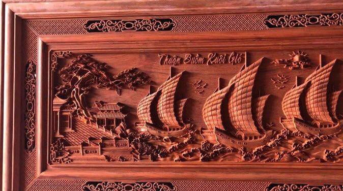 Tranh gỗ treo phòng khách - Tranh gỗ thuận buồm xuôi gió - GTB03 - Malanaz Shopping - Giá tốt
