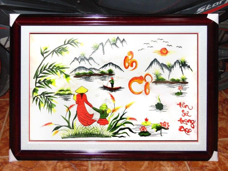 Tranh thêu tay Giá Gốc - TLH03