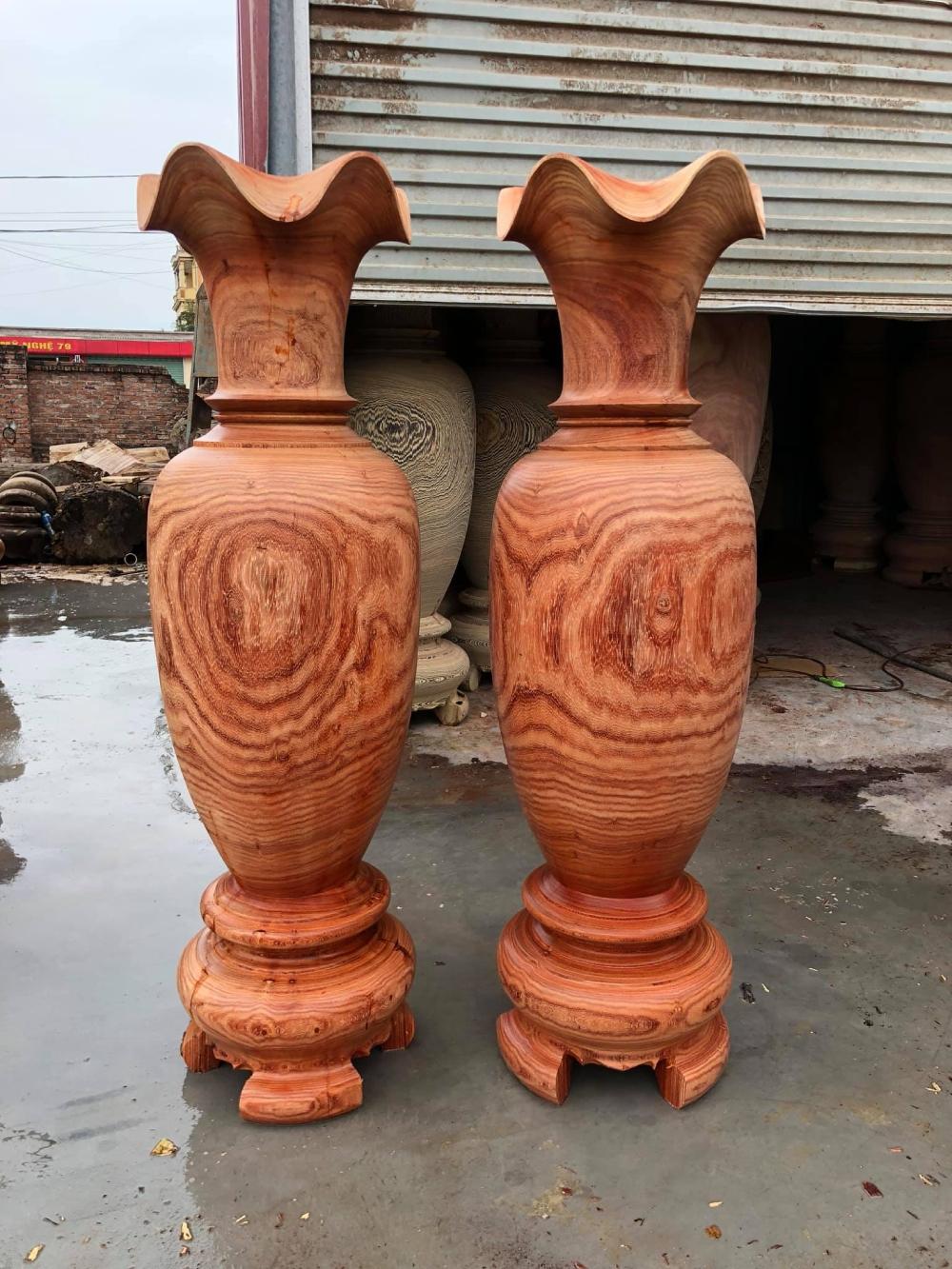 lục bình gỗ hương đẹp 1m5 đk 45 - LB04 (1)