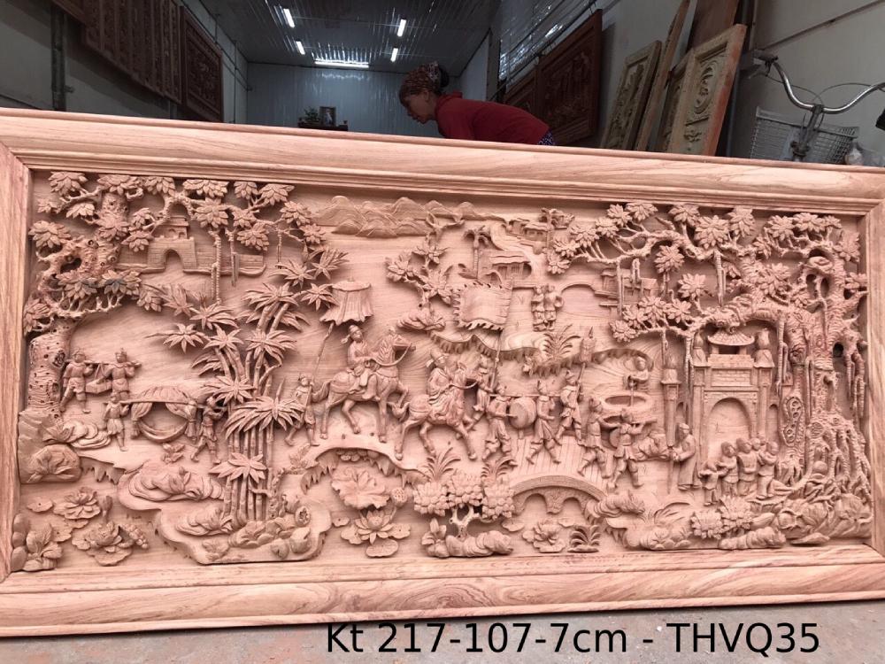 Tranh gỗ cao cấp Kt 217-107-7cm - THVQ35 (1)
