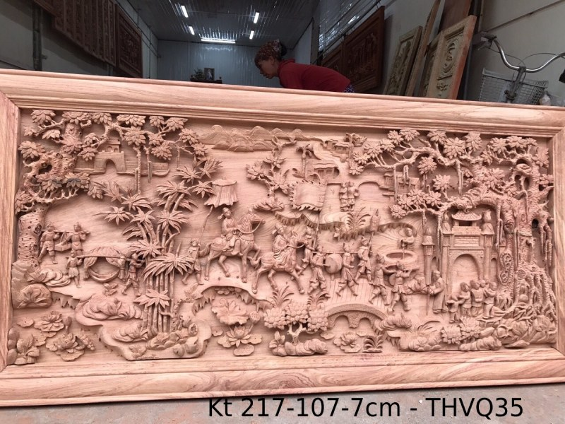 Tranh gỗ cao cấp Kt 217-107-7cm - THVQ35 (1)Kt 217-107-7cm - THVQ35 (2)