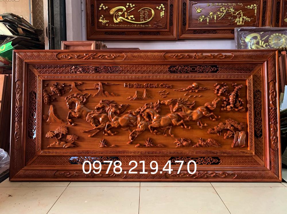 Mua tranh gỗ tphcm - Tranh gỗ mã đáo thành công - Tranh gỗ hương đỏ