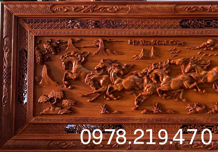Mua tranh gỗ tphcm - Tranh gỗ mã đáo thành công - Tranh gỗ hương đỏ nam phi
