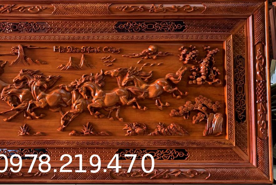 Mua tranh gỗ tphcm - Tranh gỗ mã đáo thành công - Tranh gỗ hương đỏ nam phi - kích thước  197x97x5cm