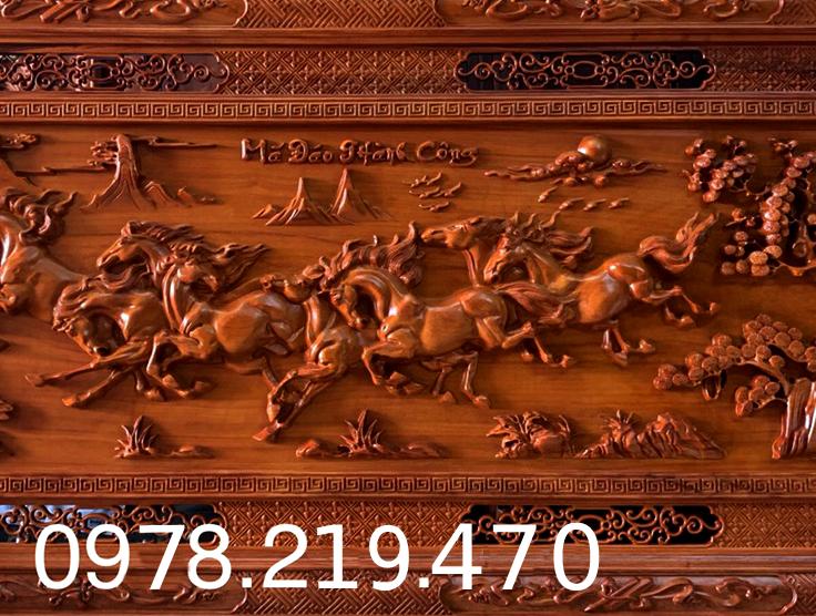 Mua tranh gỗ tphcm - Tranh gỗ mã đáo thành công - Tranh gỗ hương đỏ nam phi - kích thước  197x97x5cm  - Đục Kênh Bong