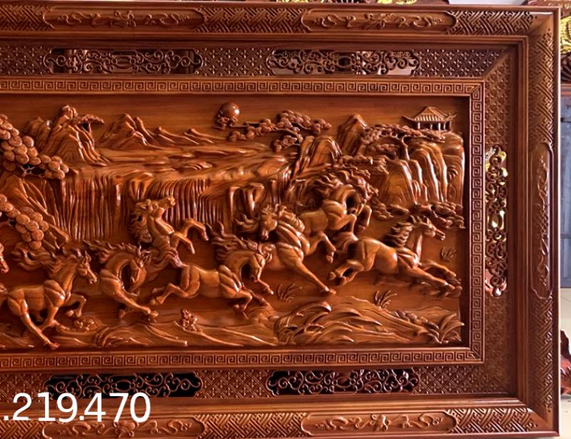 Mua tranh gỗ tphcm - Tranh gỗ mã đáo thành công - Tranh gỗ dục kênh bông - giấ tốt nhất - giao toàn quốc