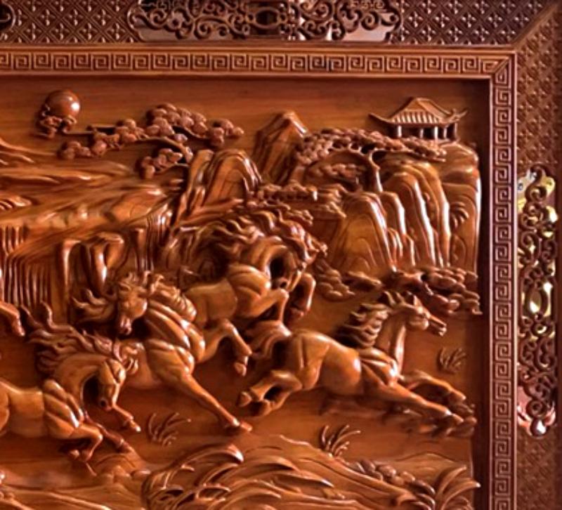 Mua tranh gỗ tphcm - Tranh gỗ mã đáo thành công - Tranh gỗ dục kênh bông - giấ tốt nhất - giao toàn quốc Malanaz cung cấp