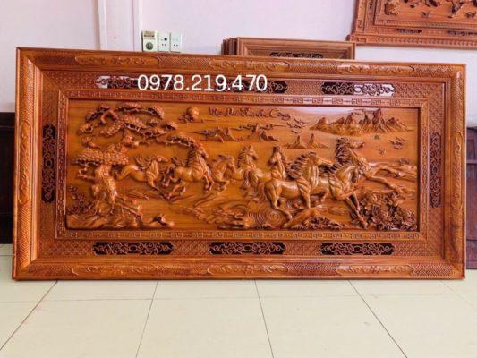 Mua tranh gỗ tphcm - Tranh gỗ mã đáo thành công - NQMD10 (1)