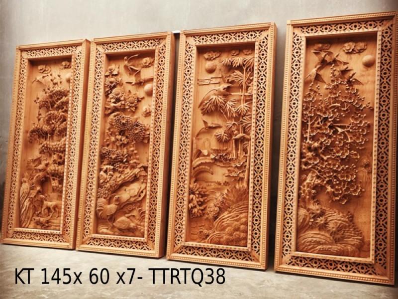 Tranh gỗ cao cấp - tranh tứ quý