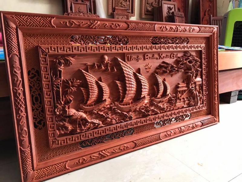 Tranh gỗ phong thủy - Thuận buồm xuôi gió 127x67x4p - MC01