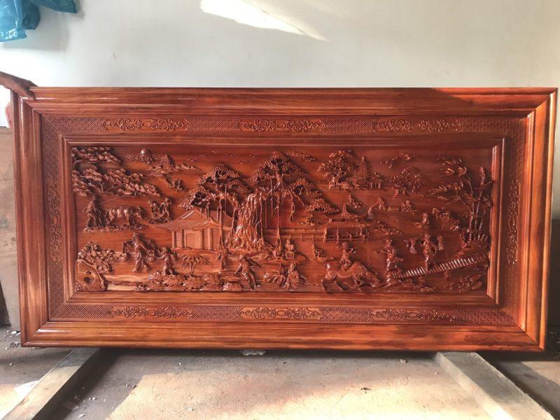Tranh gỗ đồng quê đục tay - CT09 (2)