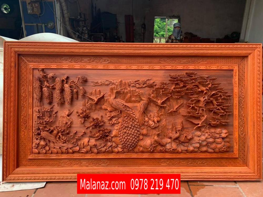 Tranh gỗ phu thê viên mãn - 217 x 117 x 8cm - HH03F
