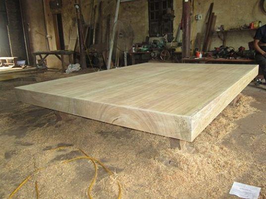 Sập Chiếu ngừ gỗ lim - 170 x 270 x 13cm - CN35
