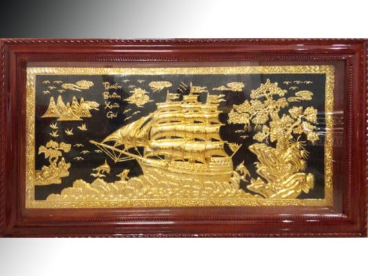 Tranh Thuân buồm dát vàng - DTB19 (1)
