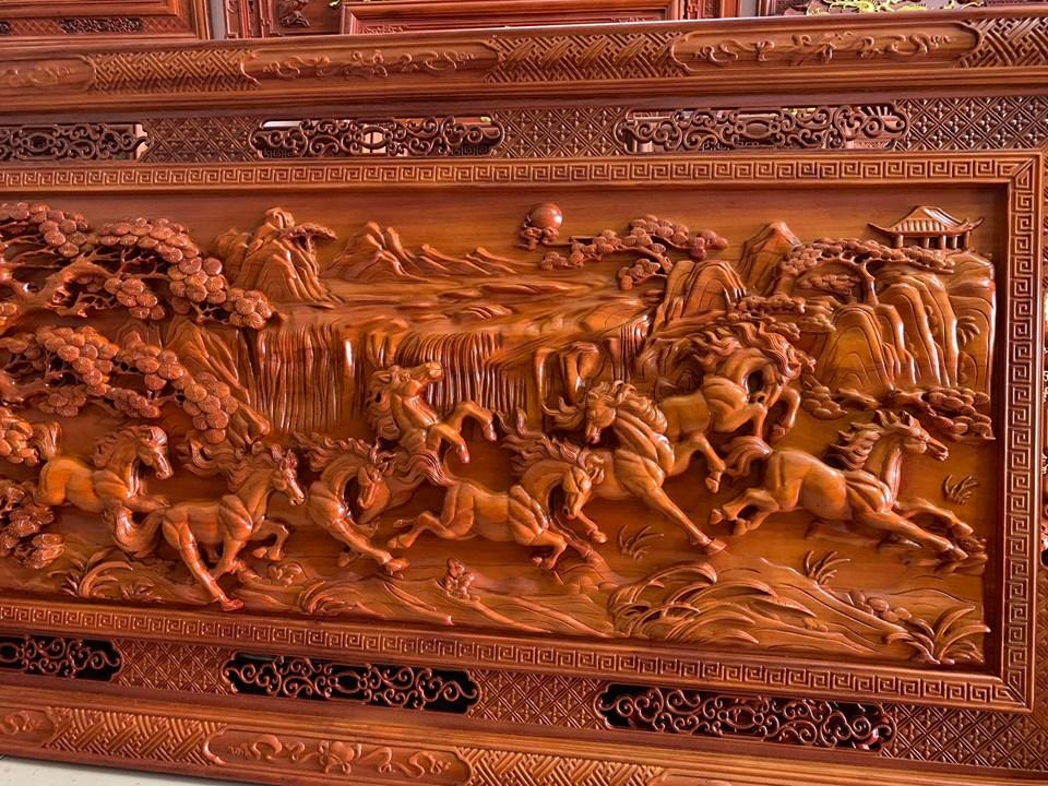 Tranh gỗ cao cấp KT 237x117x6,5cm - HDMD22