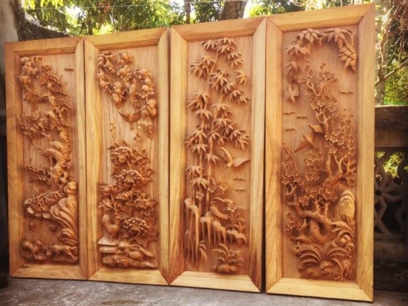 Tranh gỗ treo phòng khách - TTRTQA (1)