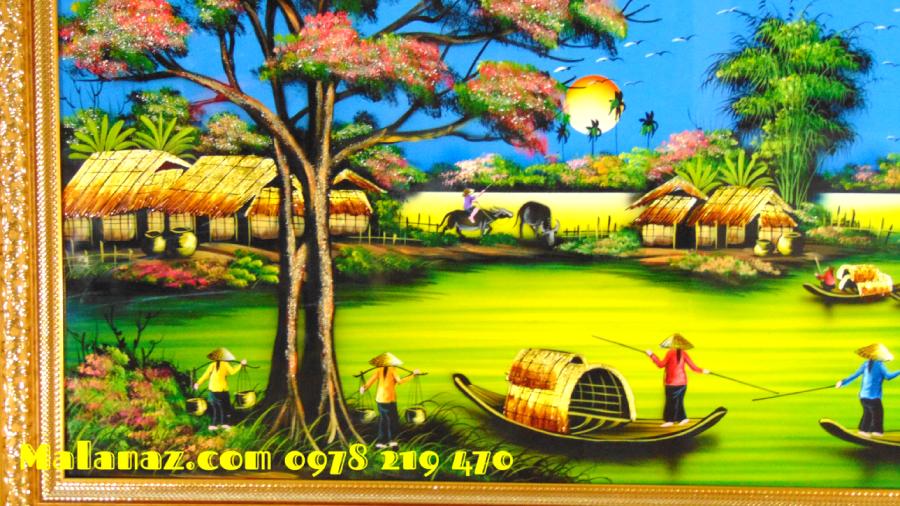 Mua tranh sơn mài tặng tân gia - MDQ37D - SALE OFF  TRÊN TOÀN QUỐC