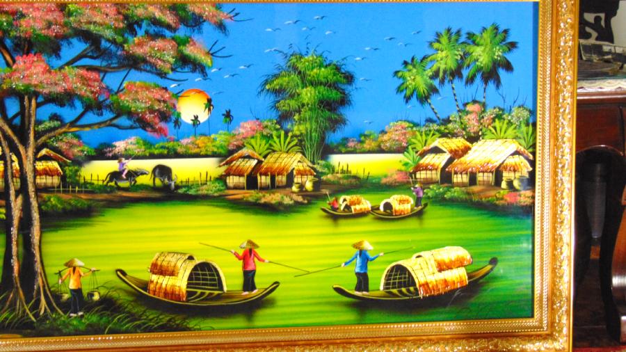 Mua tranh sơn mài tặng tân gia - MDQ37D - SALE OFF  TRÊN TOÀN QUỐC  GIAO HÀNG NHANH