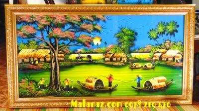 Mua tranh sơn mài tặng tân gia - MDQ37C